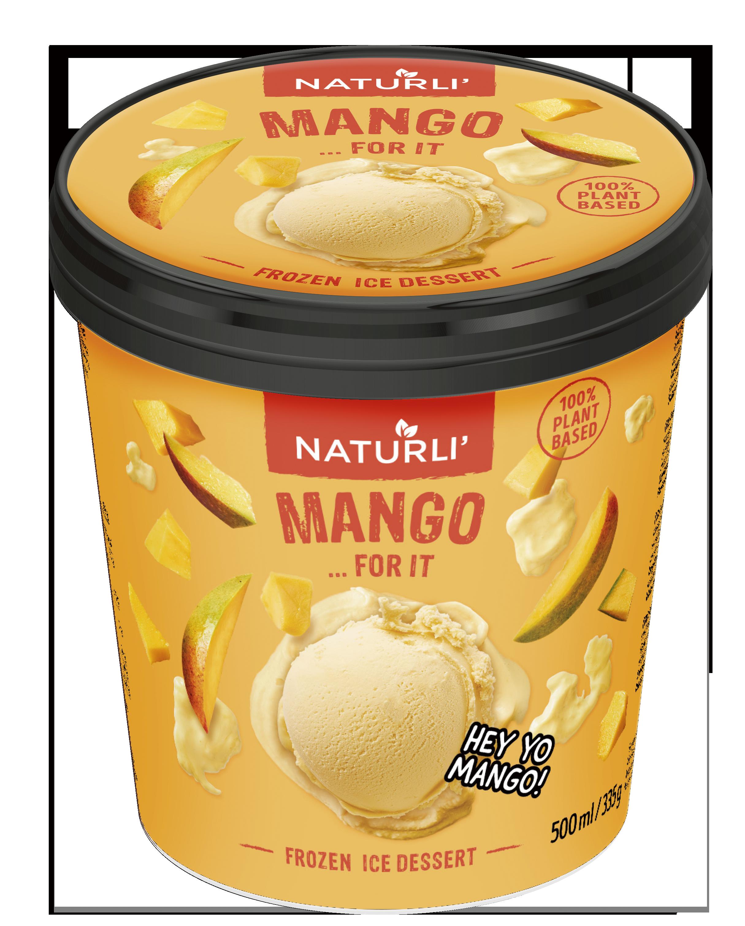 Kaerajoogist jäätis mangoga